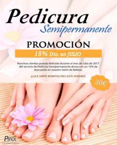 Promoción Pedicura Semipermanente Valladolid 2017