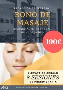 Bono de Masaje Reafirmante con Presoterapia